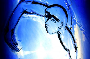 Mark Angus Blue figure