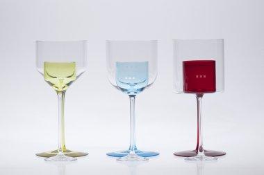 Glasmanufaktur von Poschinger / Farbiges Glas in Glas