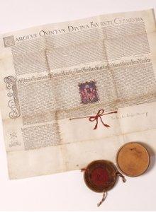 Glasmanufaktur von Poschinger / Wappenbrief von 1547