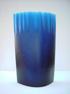 Alexander Wallner / Blaues Glasobjekt