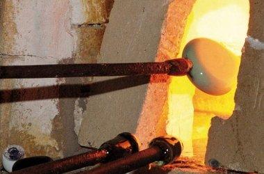 Rotwaldglashütte Zwiesel / offener Glasofen