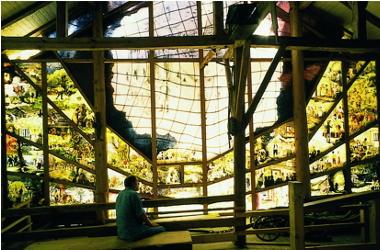 Gläserne Scheune / Mühlhiasl-Glaswand